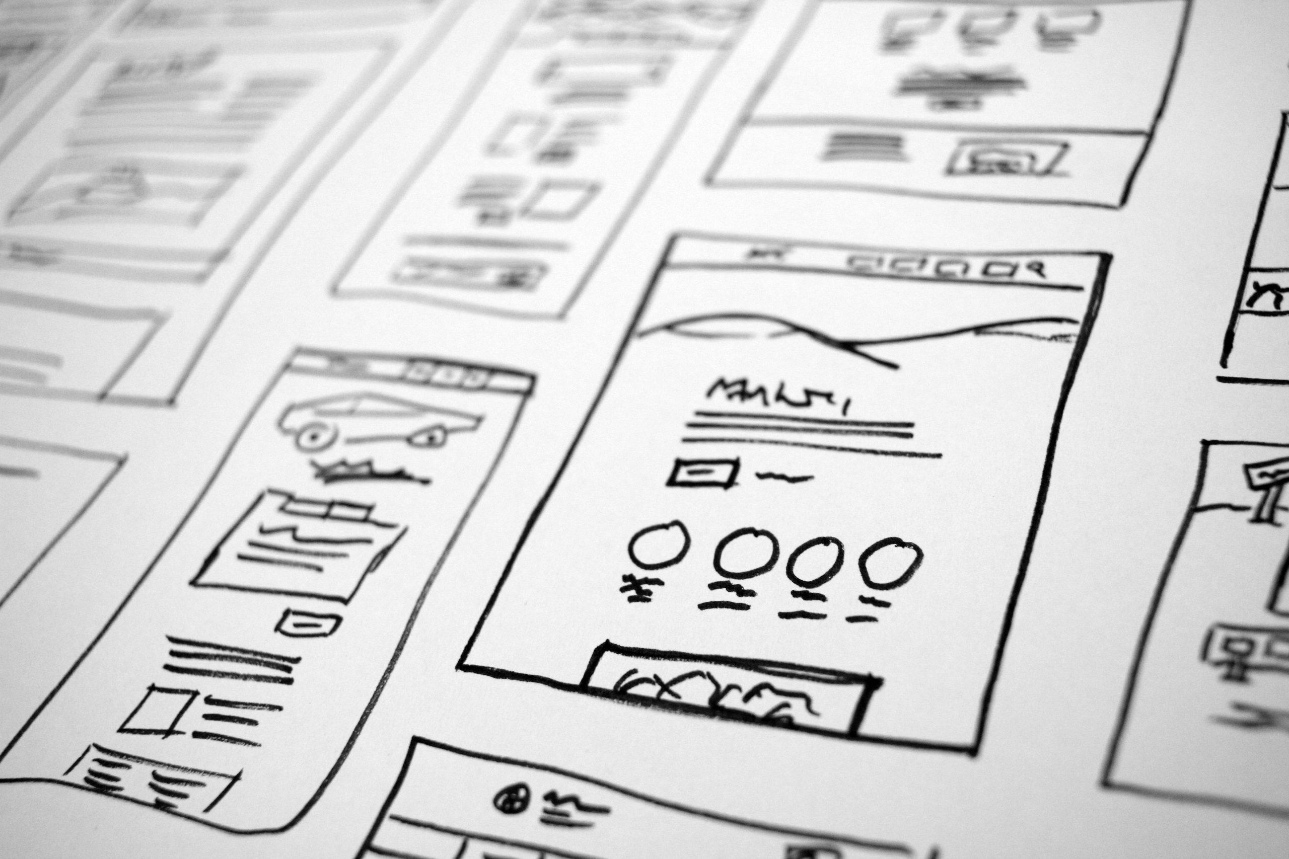 hand drawn plans