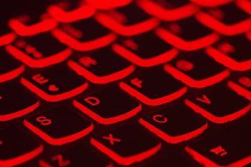 illuminated computer keyboard