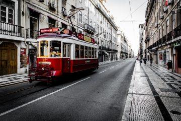 tram in street