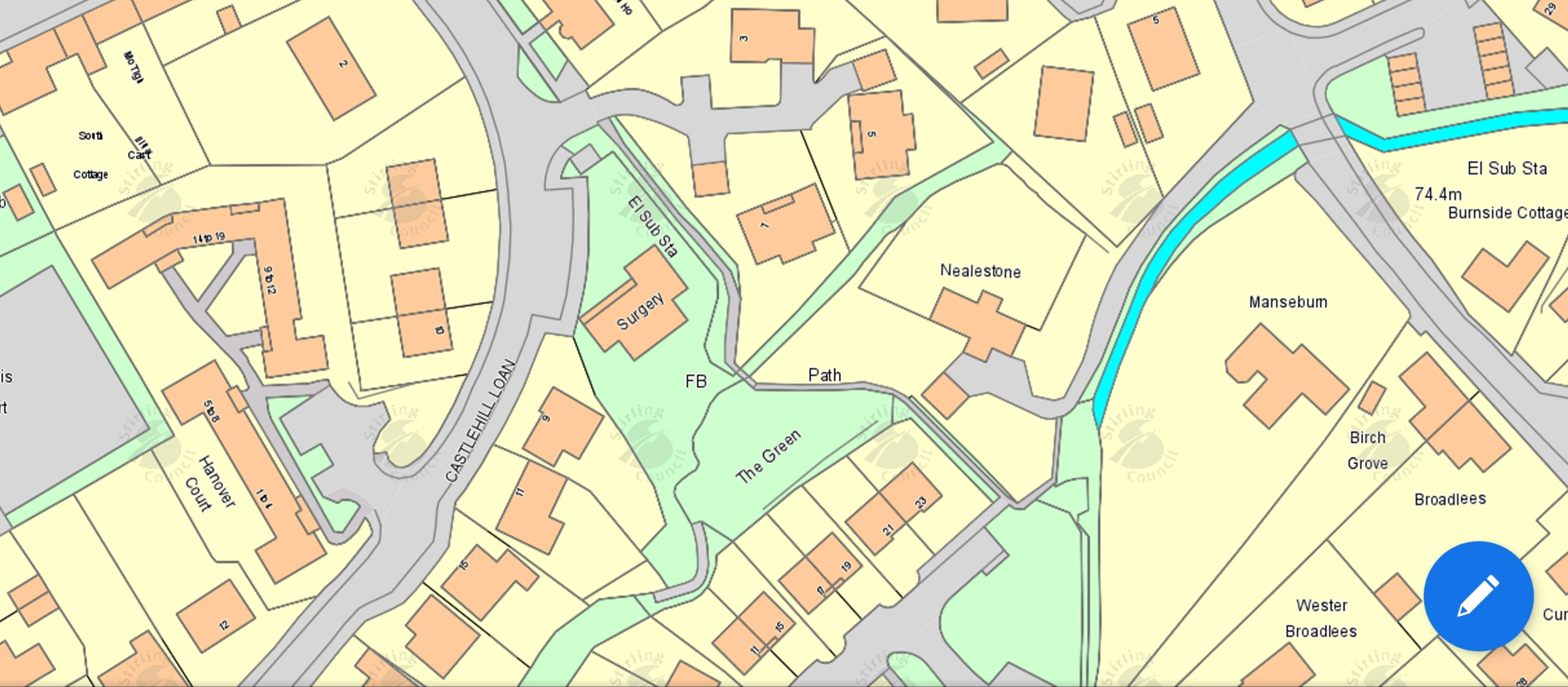 map of proposed renovation project